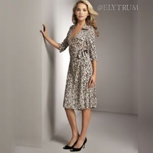 Diane von Furstenberg silk Denise wrap dress.